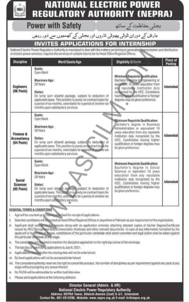 Nepra Jobs Engineer, Finance And Accountancy And Social Science